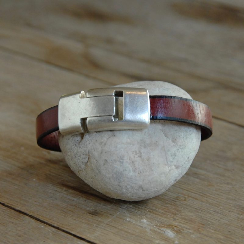 marbled leather bracelet