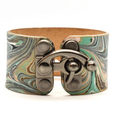 Marbled Leather Bracelets